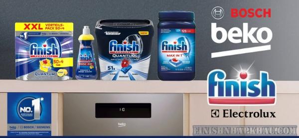 Finish chất tẩy rửa - Chuyên cung cấp viên rửa chén, bột rửa chén, muối rửa chén nhập khẩu chính hảng từ EU.