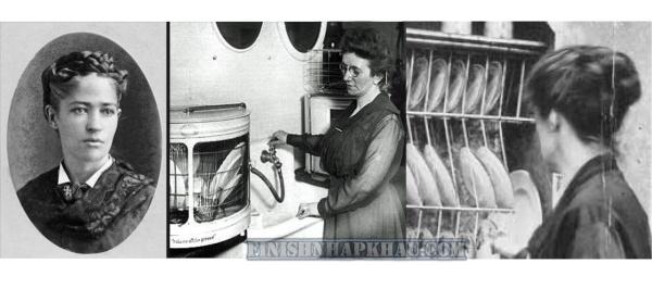 Người mẹ Josephine Garis Cochran (Cochrane) lịch sử của máy rửa chén.