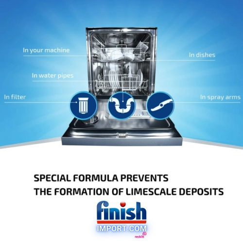 Hộp 1,2kg muối rửa chén Finish (Special Salt)-( Hỗ trợ cho chức năng diệt khuẩn bộ xả và làm mềm nước trong khoan nước của máy rửa chén).