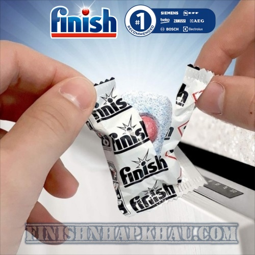 Hộp 100 viên rửa chén Finish Classic XXXL – (2x tính năng trong 1 viên – Hương Chanh) – (Dành cho máy rửa chén 9-10-12 bộ).