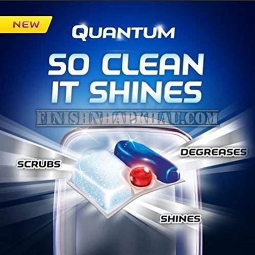 Túi 40 viên rửa chén Finish Quantum Ultimate (Công thức mới 2020 - Dòng cải tiến cao cấp của Quantum Max) – Hàng siêu cao cấp với 14x tính năng trong 1 viên (Dành cho máy rửa chén 13-14-15 bộ).