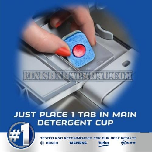 Hộp 66 viên rửa chén Finish All in 1 – (6x tính năng trong 1 viên – Hương Chanh) – (Dành cho máy rửa chén 9-10-12-13 bộ trở xuống).
