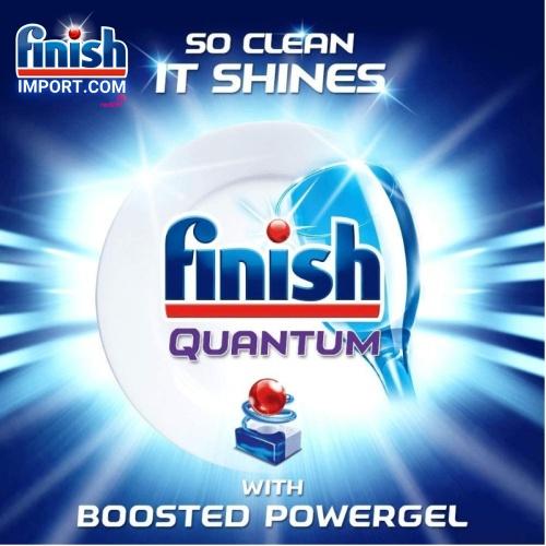 Túi 45 viên rửa chén Finish Quantum Max (14x tính năng trong 1 viên công thức 2019 – Hương Thiên Nhiên) – (Dành cho máy rửa chén 10-12-13 bộ).