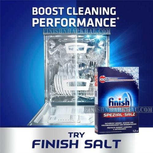 (COMBO 3 MÓN) Hộp 100 viên rửa chén Finish Classic XXXL (Hương chanh) + Hộp 1,2Kg muối Finish + Chai 800ml nước làm bóng Finish (trợ xả).