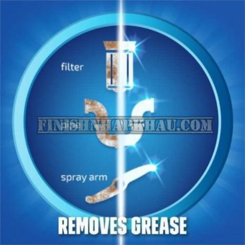 Chai 250ml dung dịch vệ sinh máy rửa chén Finish (EU) – (Khuyên dùng 3 tháng 1 lần).