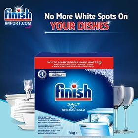 Hộp 4,0kg muối rửa chén Finish Salt (2 GÓI 2KG/HỘP) - ( Hỗ trợ làm mềm nước trong khoan nước của máy rửa chén).