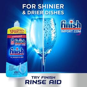 Chai 1150ml nước làm bóng chén Finish – (Hỗ trợ sấy khô và không bị đọng nước trên ly thủy tinh).