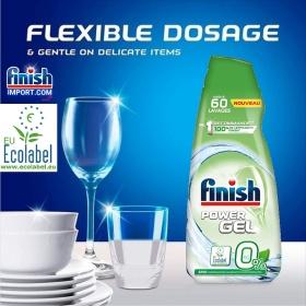 Chai 900ml Gel rửa chén Finish All in 1 Max (0% Ecolabel EU - HÀNG MỚI VỀ - 10x tính năng trong 1 - Đặc biệt cho sức khoẻ các hộ gia đình có trẻ nhỏ) – (Dành cho máy rửa chén 6 tới 15 bộ).