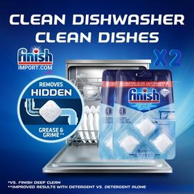COMBO 2 Vỉ viên vệ sinh máy rửa chén Finish (EU-Đức) – (COMBO 6 viên - Khuyên dùng 1 tháng 1 lần/viên).