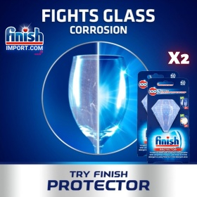 COMBO 2 Túi kẹp bảo vệ và làm bóng chén dĩa Finish – (Hỗ trợ bảo vệ chống ăn mòn kính, chống phai màu trên ly thủy tinh).