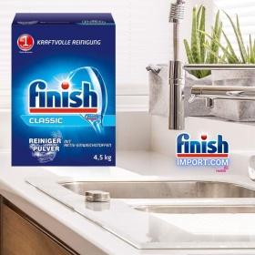 Hộp bột rửa chén Finish Classic 4,5Kg (Hương nguyên bản – 450 lần dùng) – (Dành cho máy rửa chén 7-8-9-10-12-13-14-15 bộ).