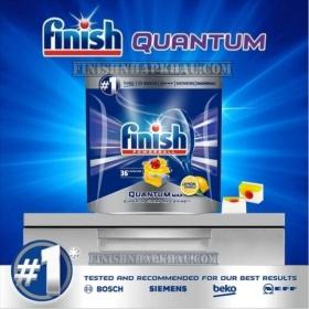 Túi 36 viên rửa chén Finish Quantum Max (14x tính năng trong 1 viên công thức mới – Hương Chanh) – (Dành cho máy rửa chén 10-12-13 bộ).